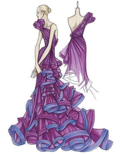 картинки эскизы платьев