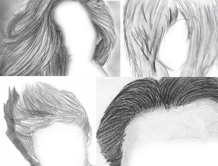 Волосы рисовать